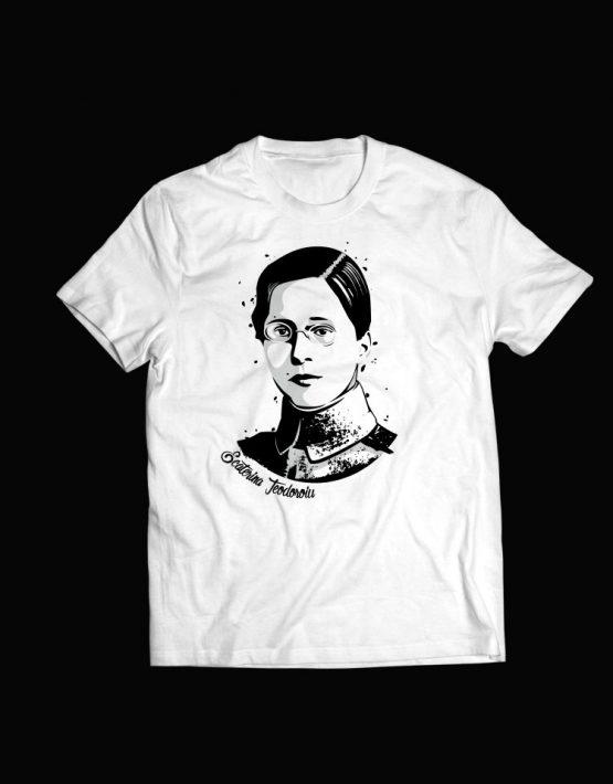 tricou alb  Ecaterina Teodoroiu