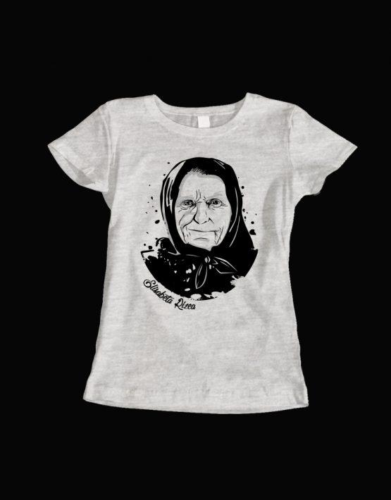 tricou dama gri Elisabeta Rizea