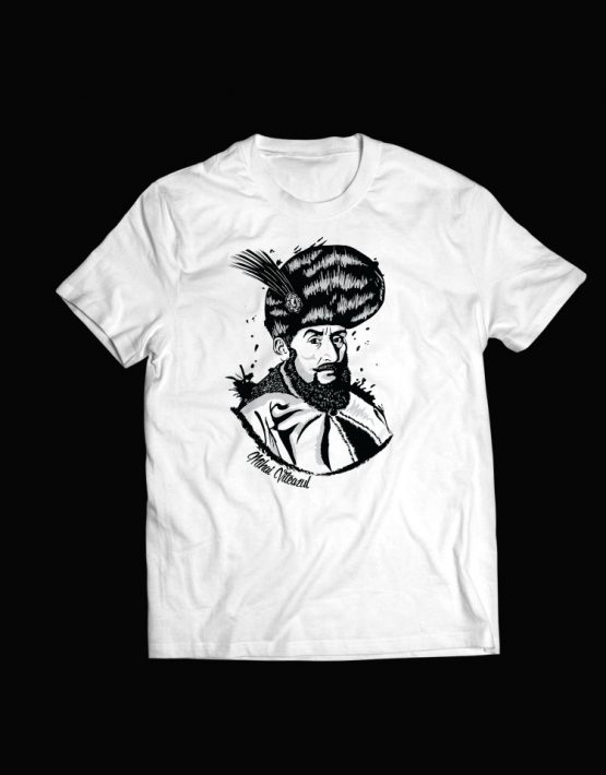 tricou alb Mihai Viteazul