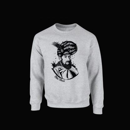 Bluza cu Mihai Viteazul - culoare gri