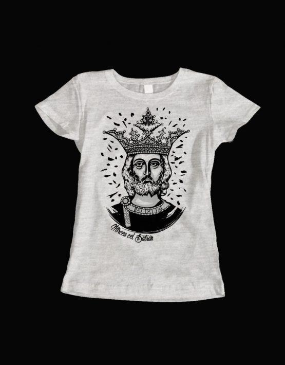 tricou dama gri Mircea cel Batran