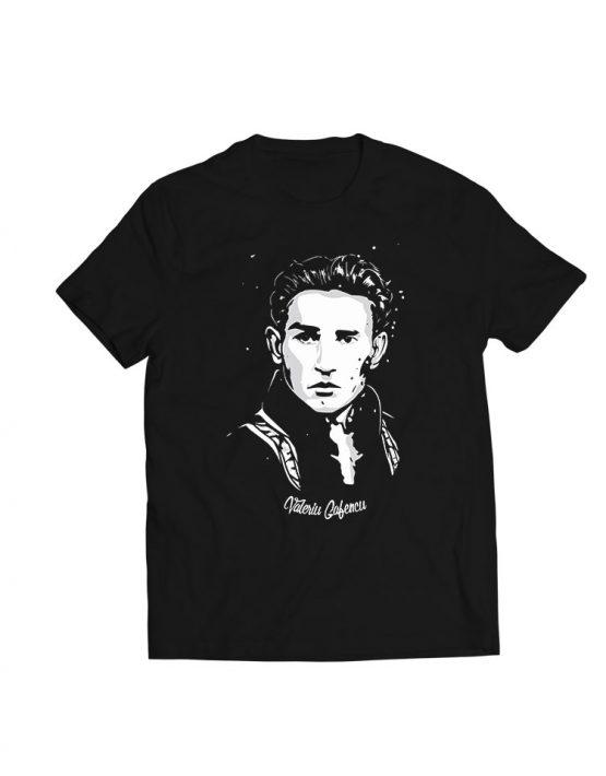 tricou negru Valeriu Gafencu