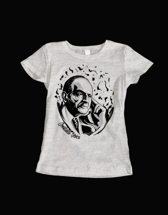 tricou dama gri Constantin Noica