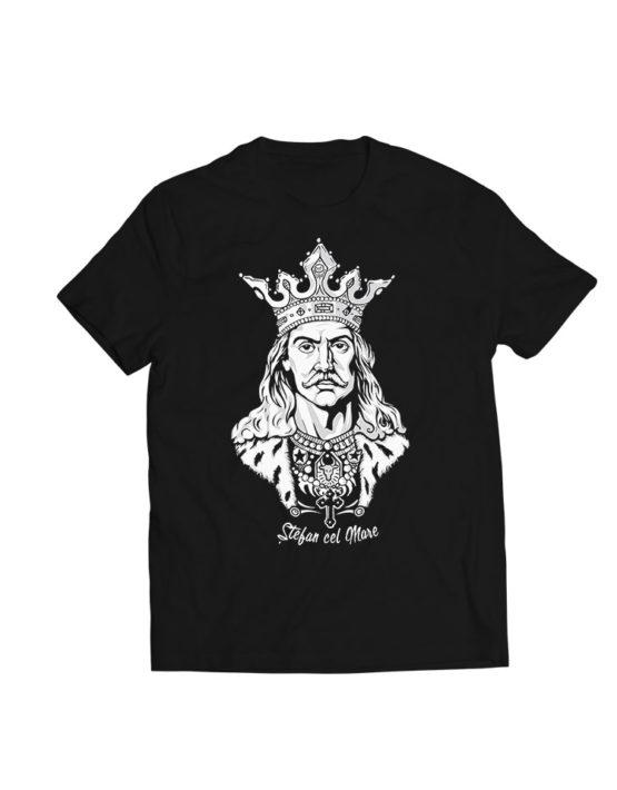 tricou negru Stefan cel Mare