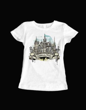tricou dama alb Castelul Peles