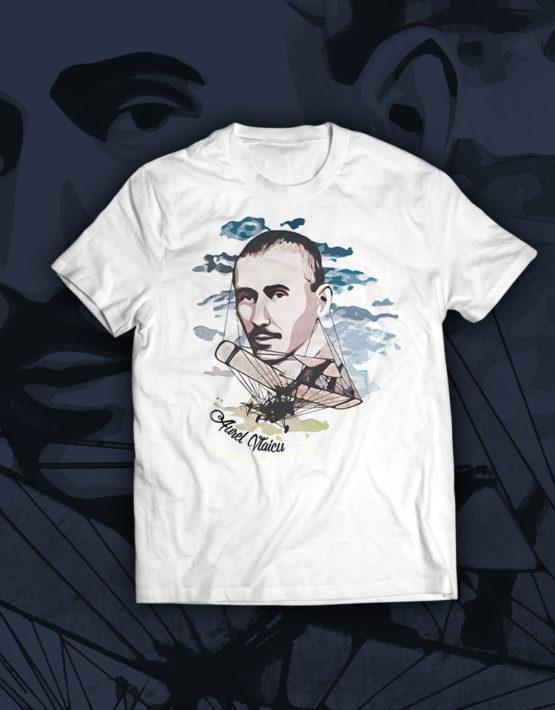 tricou-alb-Aurel-Vlaicu