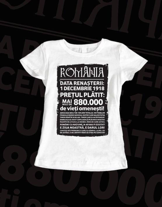 tricou-dama-alb-mesaj-romania