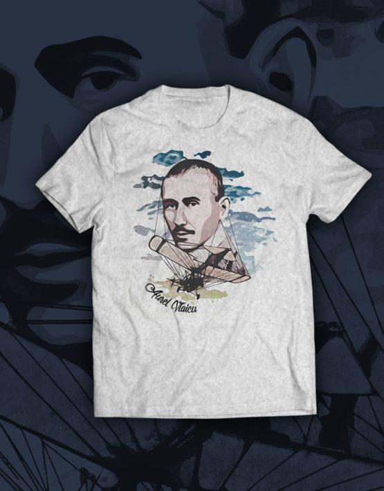 tricou-gri-Aurel-Vlaicu