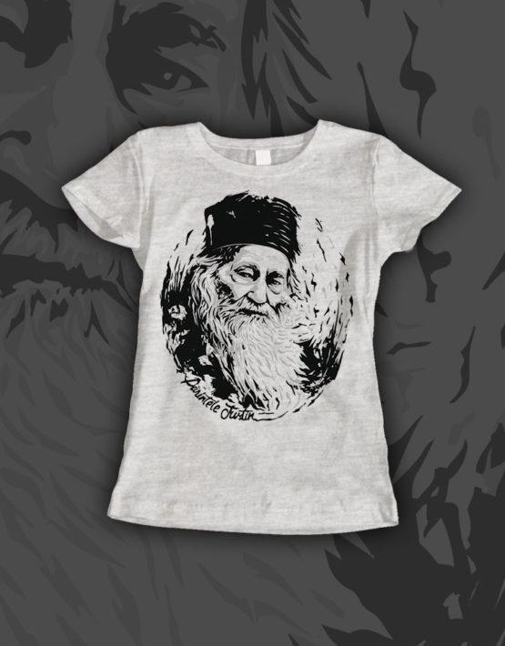 tricou-dama-gri-Parintele-Justin