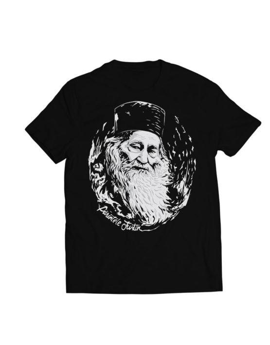 tricou-negru-Parintele-Justin